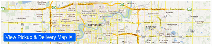 dress cleaning Edmonton Map