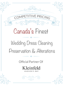 Wedding dress cleaning and alterations services